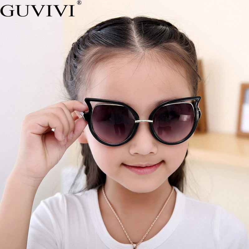 Children's Retro-Style Cat  Eye Sunglasses (6 Colors) - The Palm Beach Baby