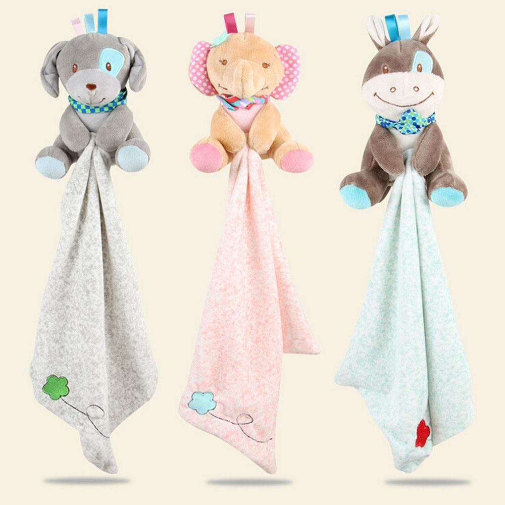 Soft Animal Plush Toy + Towel Blanket - The Palm Beach Baby