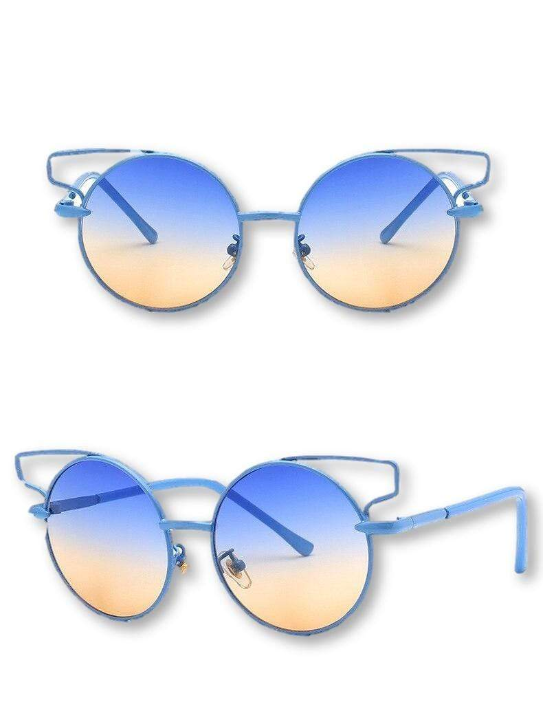 Trendy Vintage-Style UV 400 Children's Sunglasses - The Palm Beach Baby