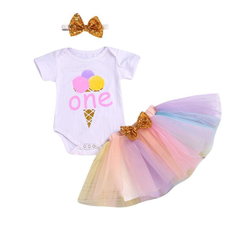 1ST Birthday Tutu Clothing 3 PC Set - The Palm Beach Baby