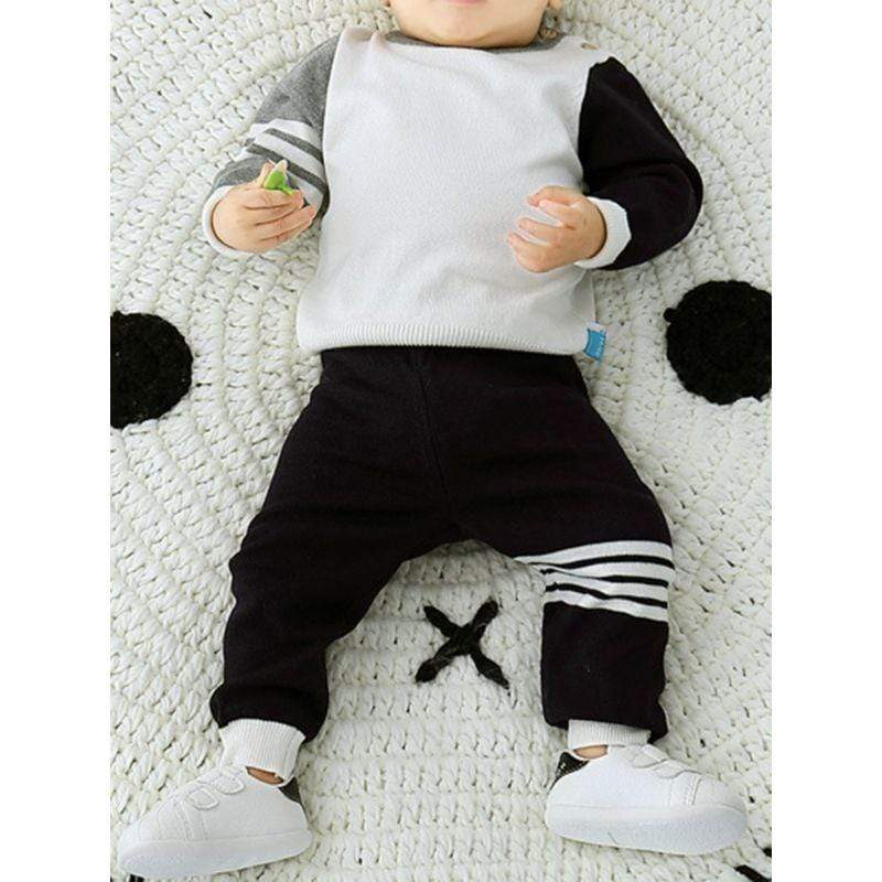 2 PC Baby's Striped Sweater With Pants Set - The Palm Beach Baby