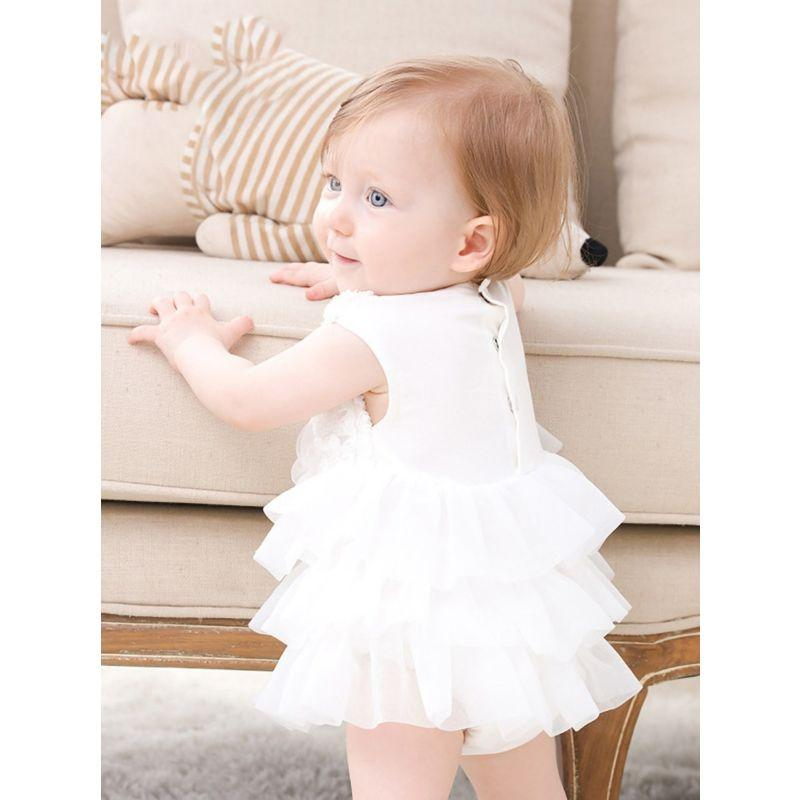 "2 PC ""Serenity"" Tulle Romper Dress With Hat - The Palm Beach Baby"