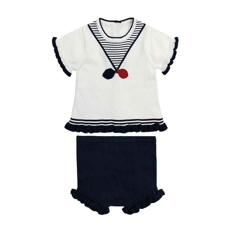 2-Piece Baby's Ruffle Knit Top & Shorts - The Palm Beach Baby