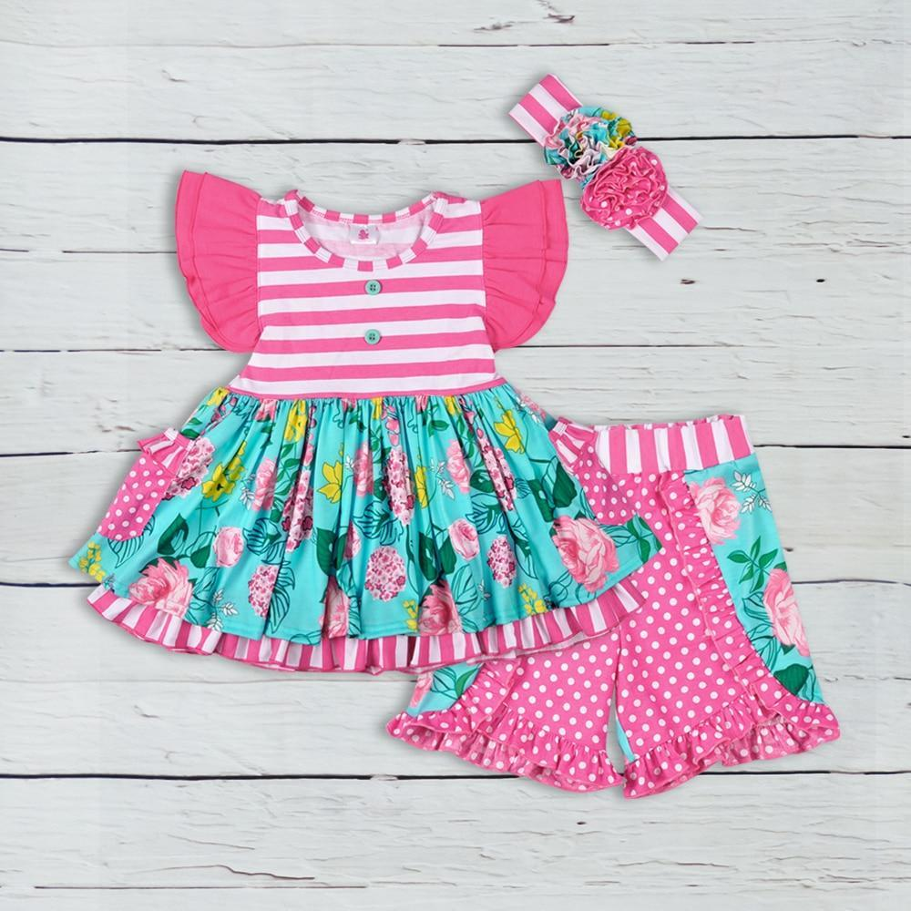 """Sophie"" Boho Flower Summer Sets - The Palm Beach Baby"