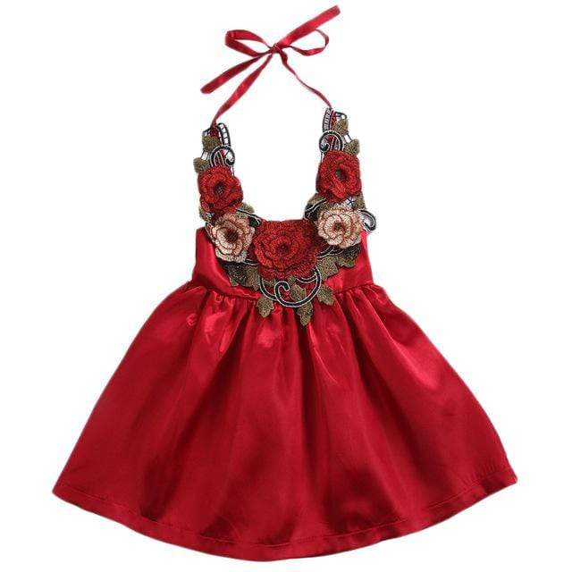 "The ""Eloise"" Flower Halter Party Dress - The Palm Beach Baby"