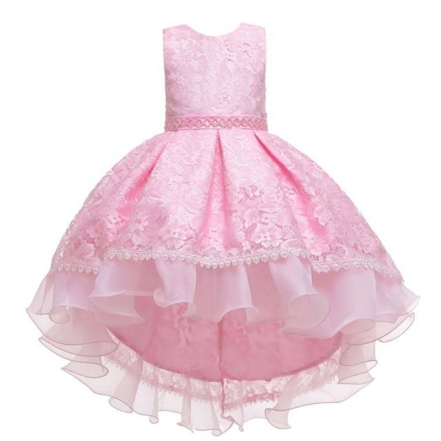 "Baby & Kids Apparel A4 / 130 / United States The ""Martina"" Elegant High-Low Dress -The Palm Beach Baby"