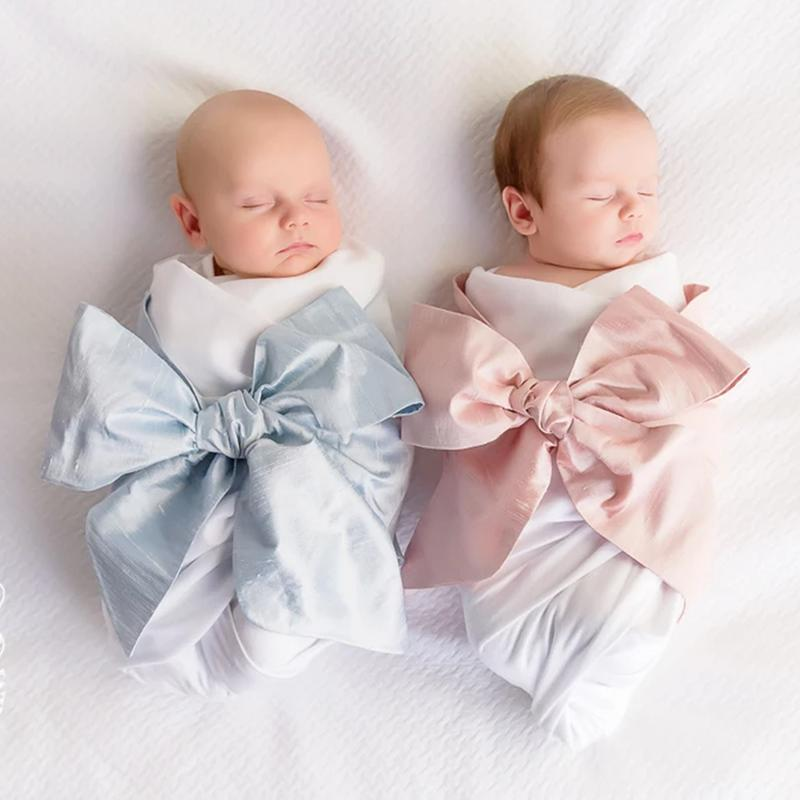Adorable Big Bow Swaddle Wrap For Infants - The Palm Beach Baby