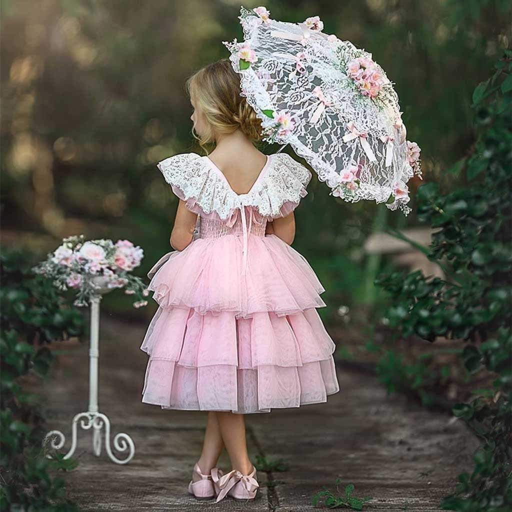 "Baby & Kids Apparel ""Aria"" Pink Confection Party Dress -The Palm Beach Baby"