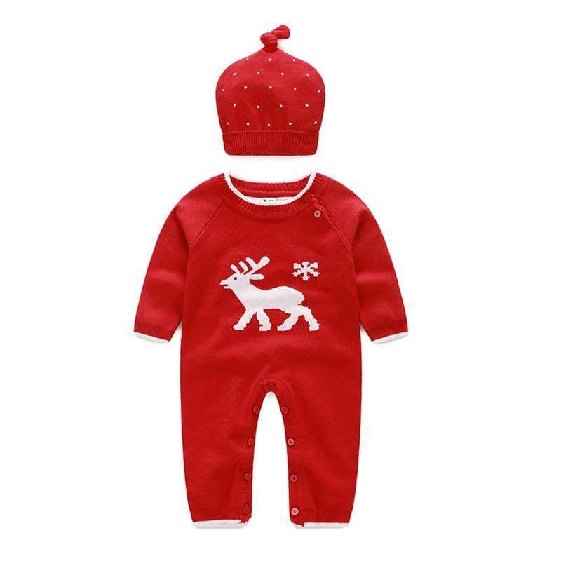 Babies Knitted Winter-Themed Jumpsuit Set - The Palm Beach Baby