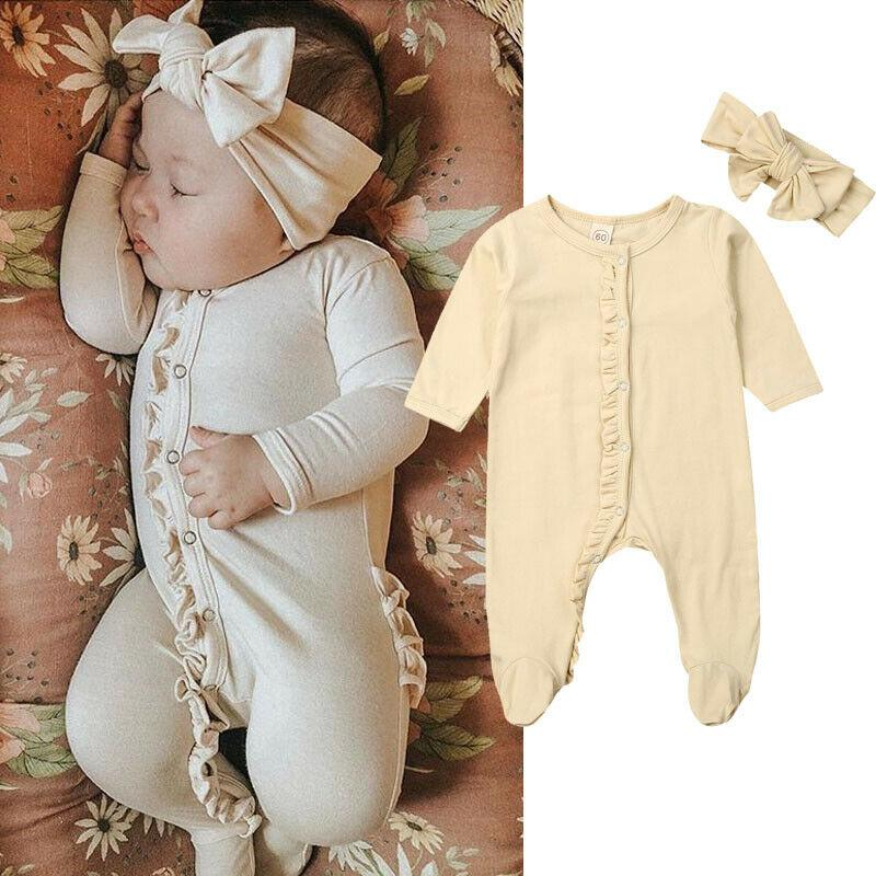 """Baby Charlotte"" Footed Romper Set - The Palm Beach Baby"