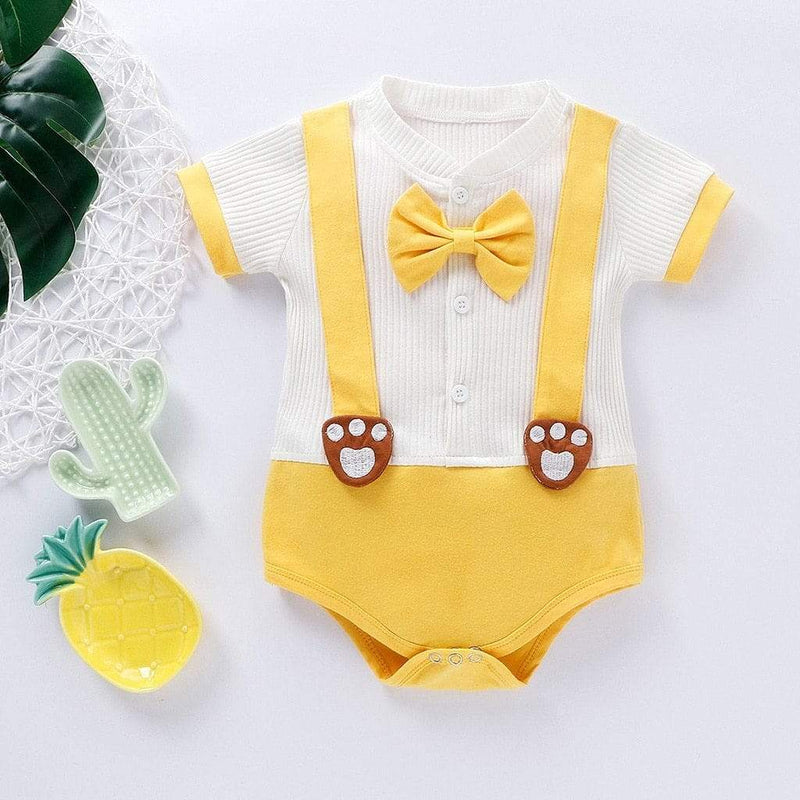 Baby's Dapper Bow-Tie Romper (2 Colors) - The Palm Beach Baby