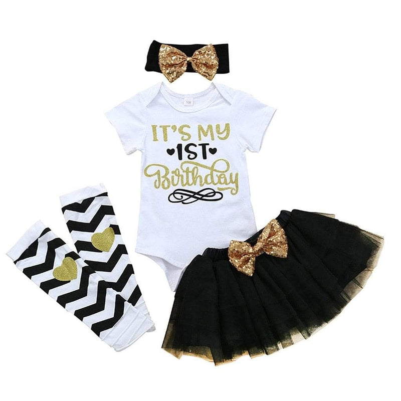Baby's First Birthday 4 PC Tutu Set - The Palm Beach Baby