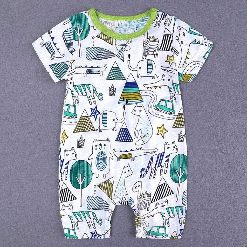 "The ""Benjamin"" Fun-Print Onesie - The Palm Beach Baby"