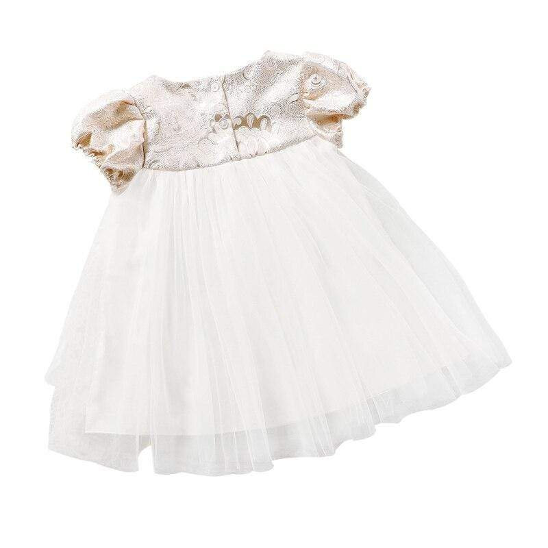 Brocade and Tulle Special Occasion Dress - The Palm Beach Baby
