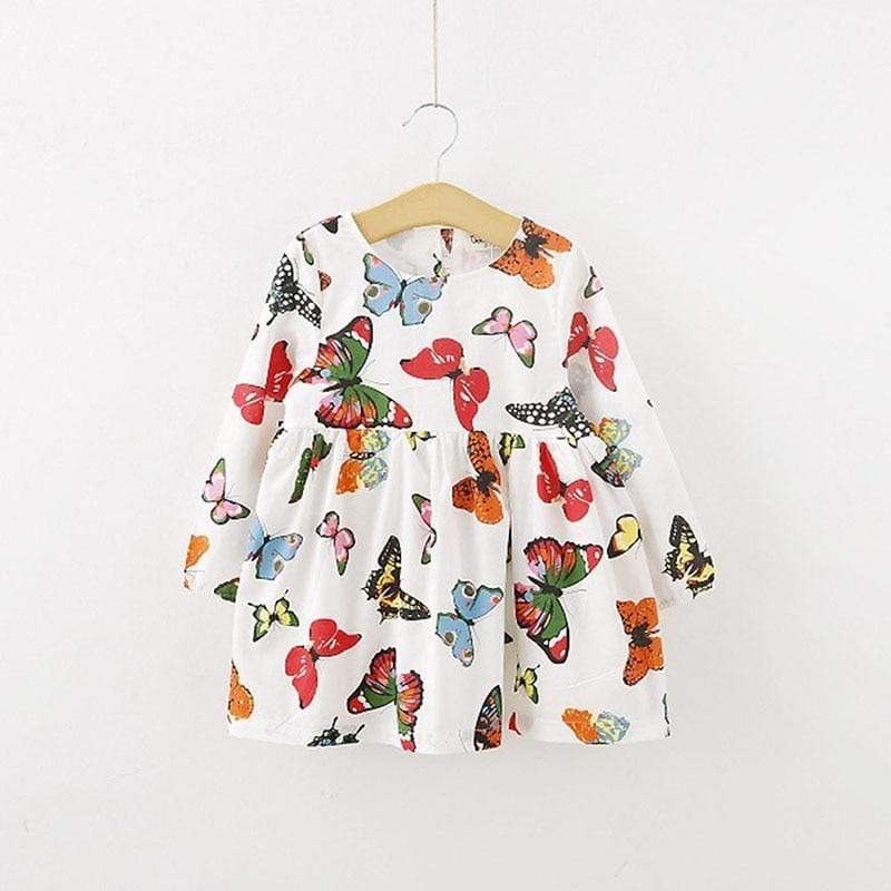 """Butterfly Fun"" Little Girls Dress: - The Palm Beach Baby"