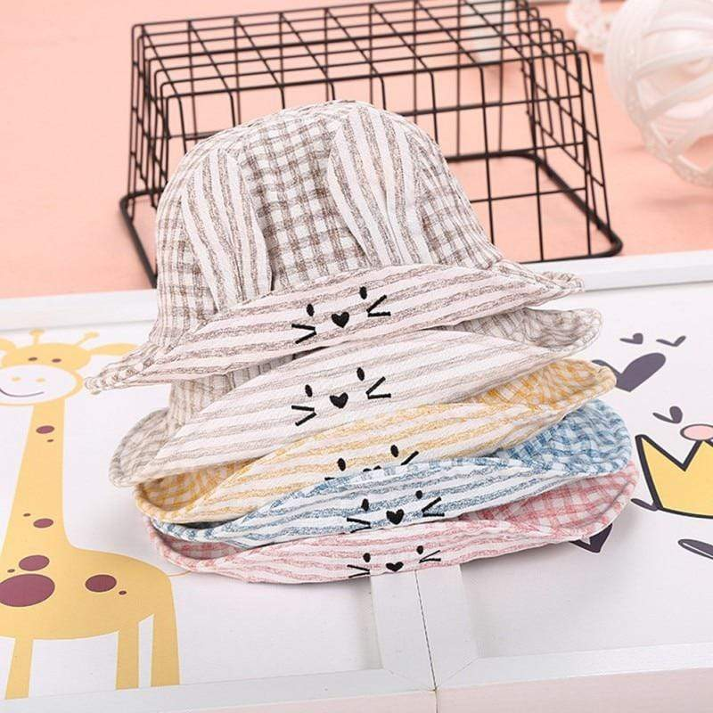 Checked Babies/Toddlers Bucket Hat (5 Colors) - The Palm Beach Baby