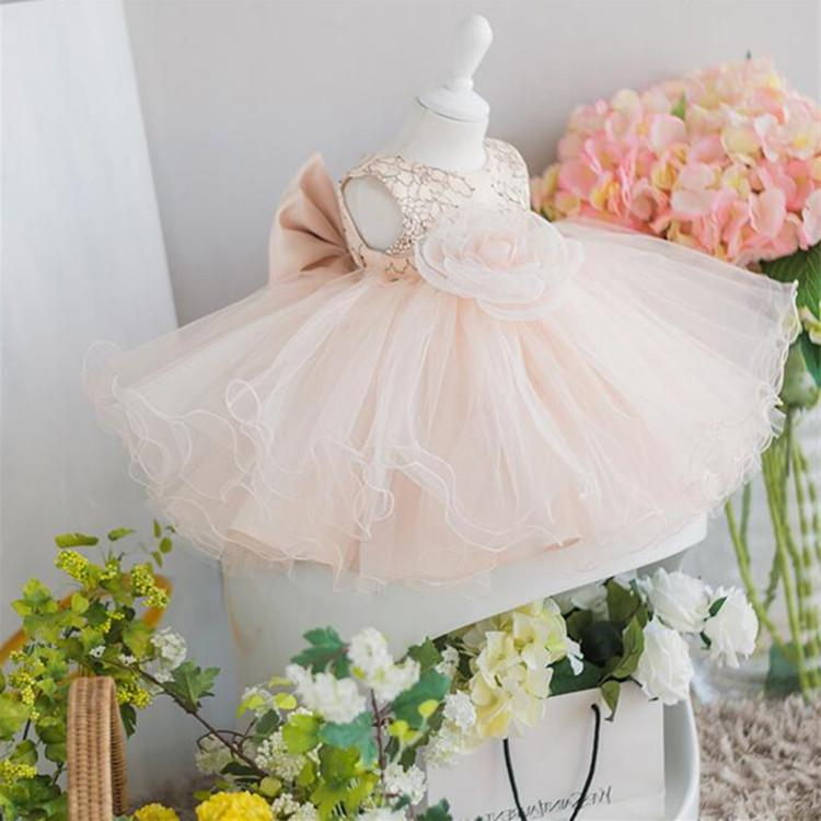 "Baby & Kids Apparel ""Deidre-Marie Flower Pink Occasion Dress -The Palm Beach Baby"