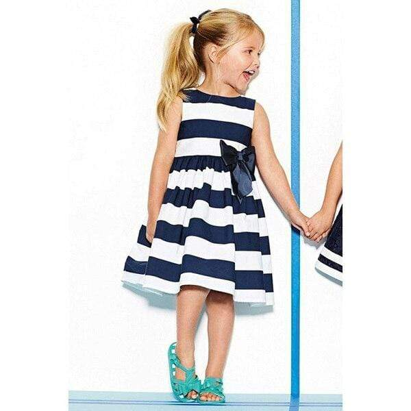 """Delaney"" Striped Party Dress - The Palm Beach Baby"