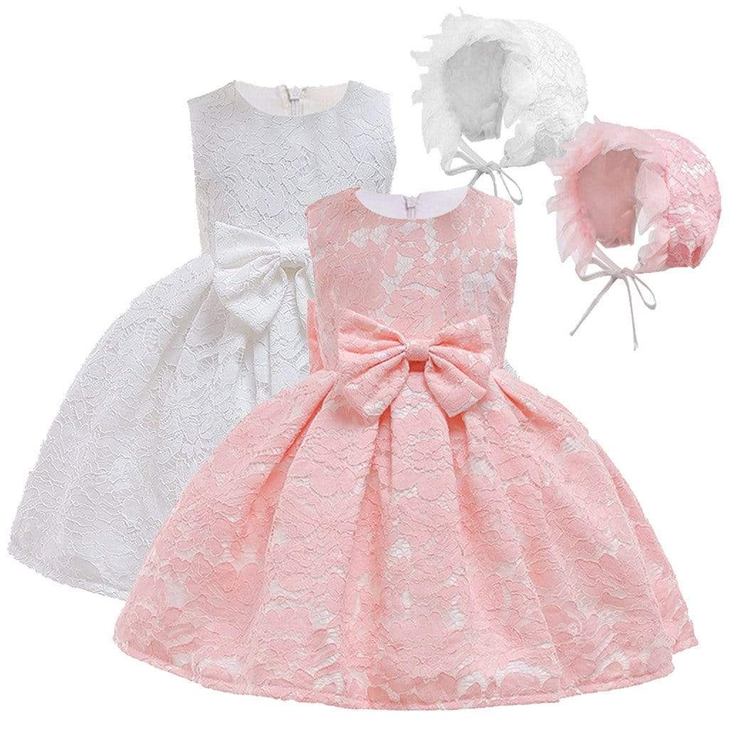 """Dorinda""  Lace Special Occasion Dress Set - The Palm Beach Baby"