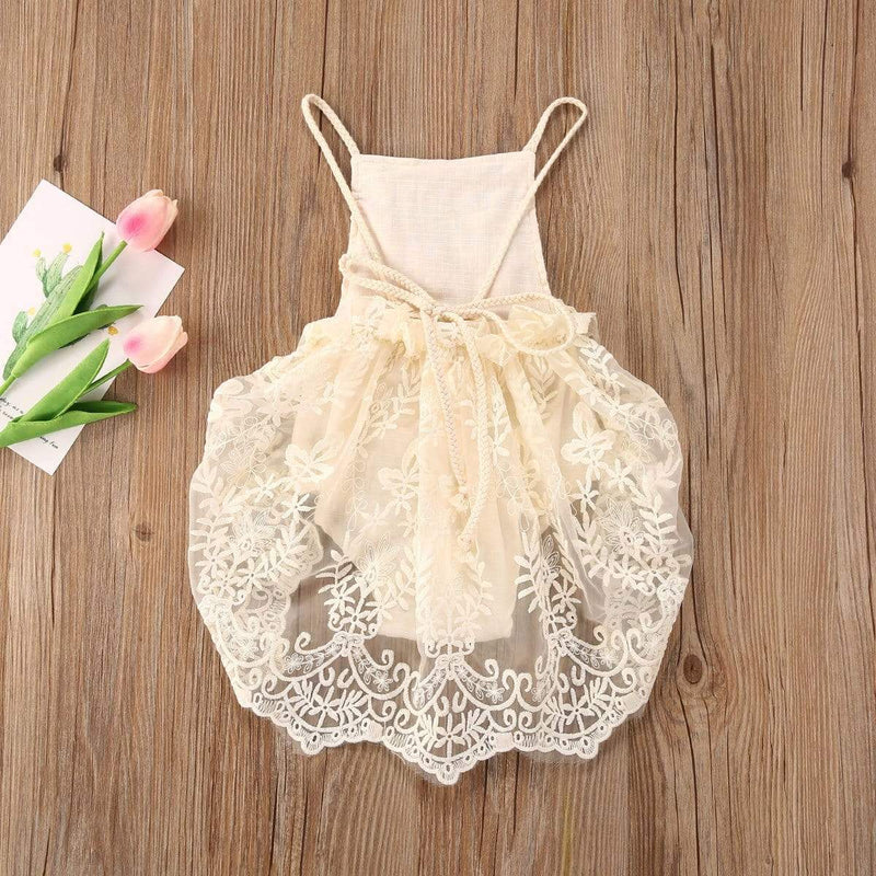 """Elise-Marie"" Lovely Lace Romper (2 Designs) - The Palm Beach Baby"