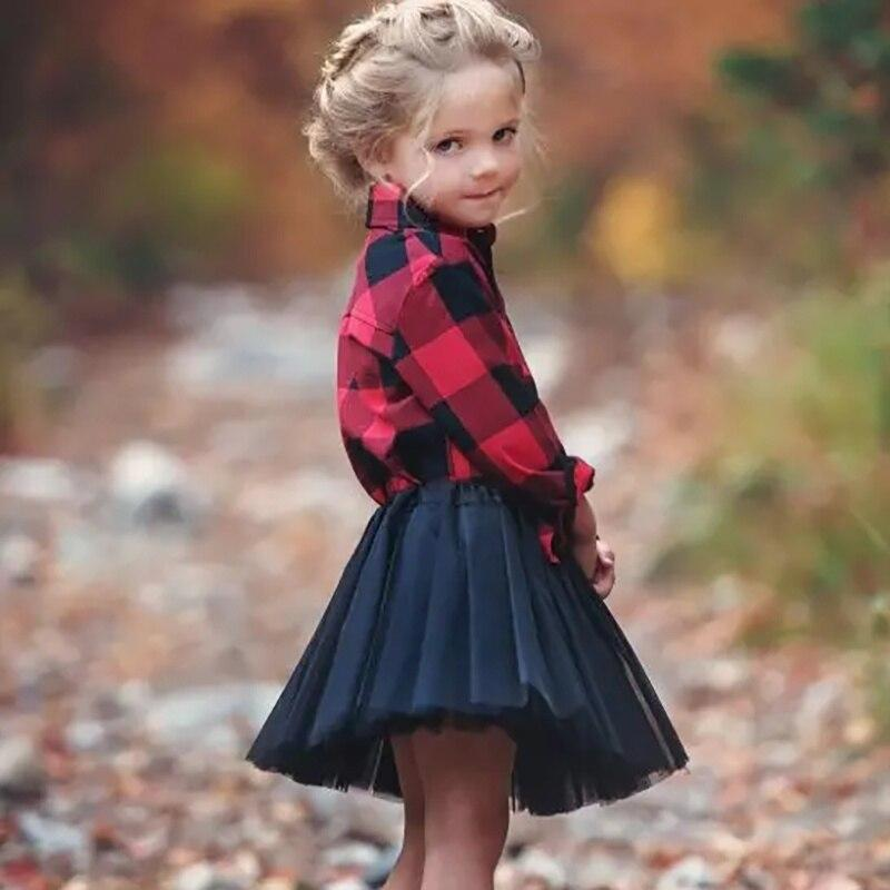 Fall/Winter Plaid Blouse Tutu Set - The Palm Beach Baby