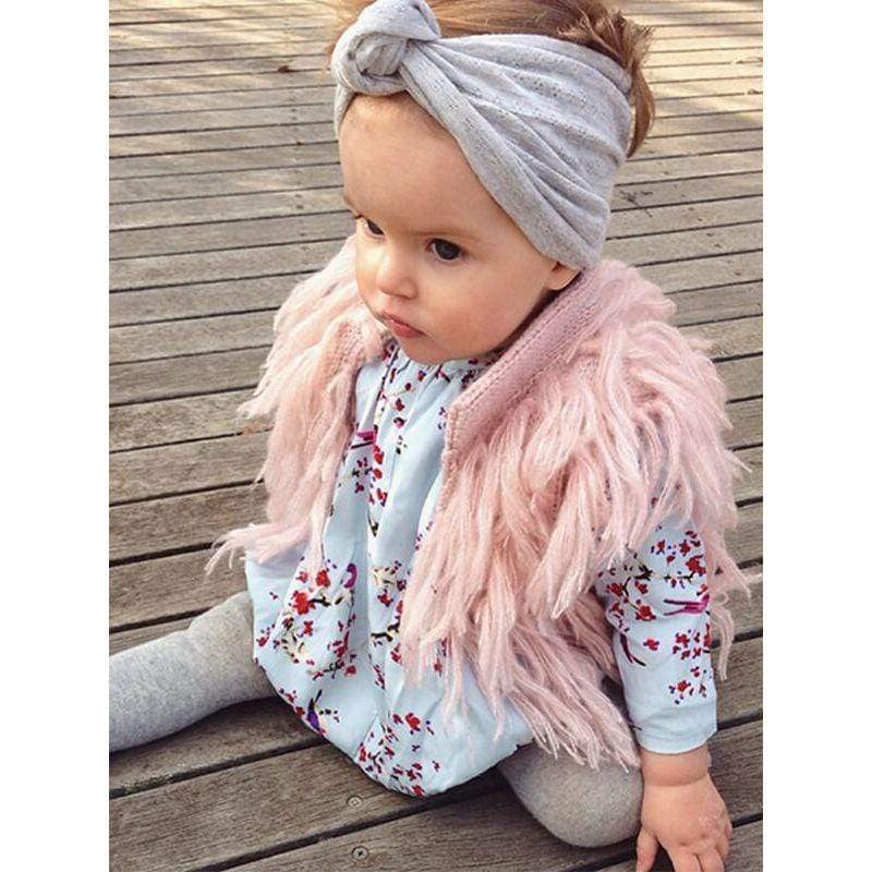 Fringe Knit Little Girls Vest - The Palm Beach Baby