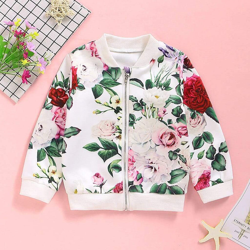 Fun Floral Print Lightweight Jacket - The Palm Beach Baby
