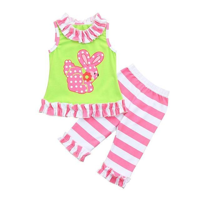 """Jillian"" 2 PC Bunny Pant Set - The Palm Beach Baby"