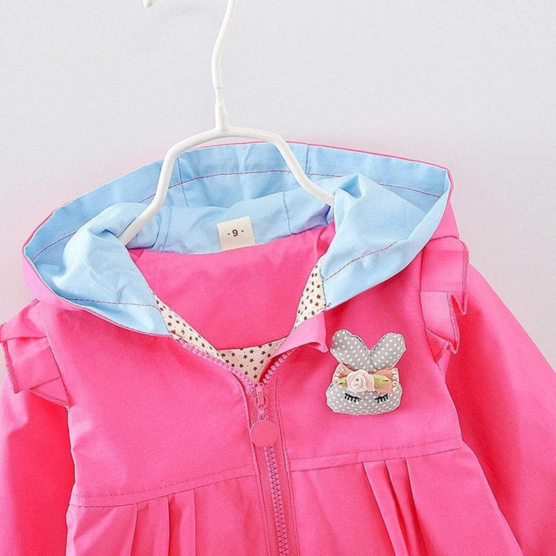 """Here Bunny, Bunny"" Hooded Jacket - The Palm Beach Baby"