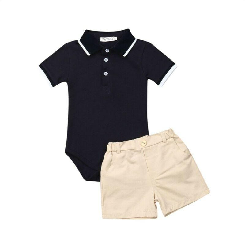 """John-Robert"" 2 PC Romper + Shorts Set - The Palm Beach Baby"