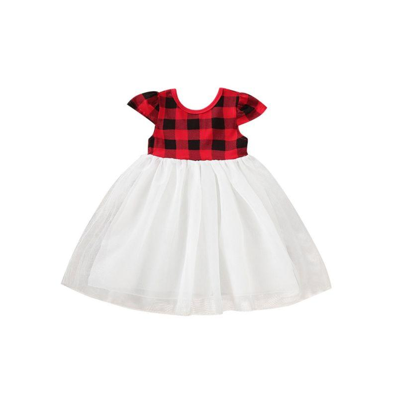 """Katrina"" Plaid And Tulle Dress - The Palm Beach Baby"