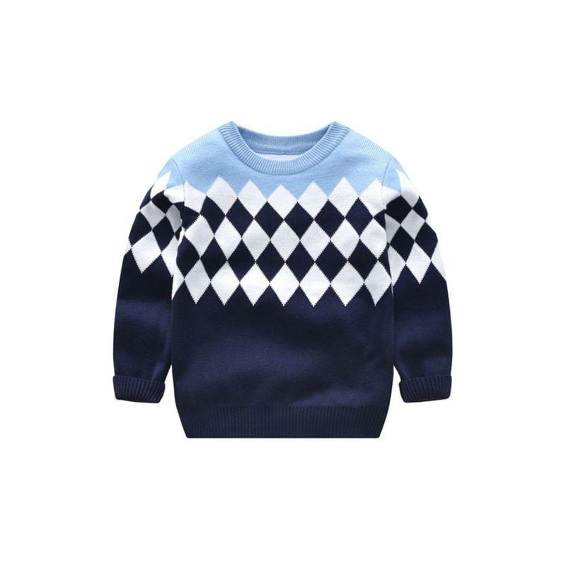 """Keanen"" Graphic Knit Sweater - The Palm Beach Baby"