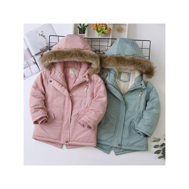 Kids Faux Fur Hooded Winter Jacket - The Palm Beach Baby