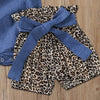 """Leopard Love"" 3 PC Romper And  Bloomers Set - The Palm Beach Baby"