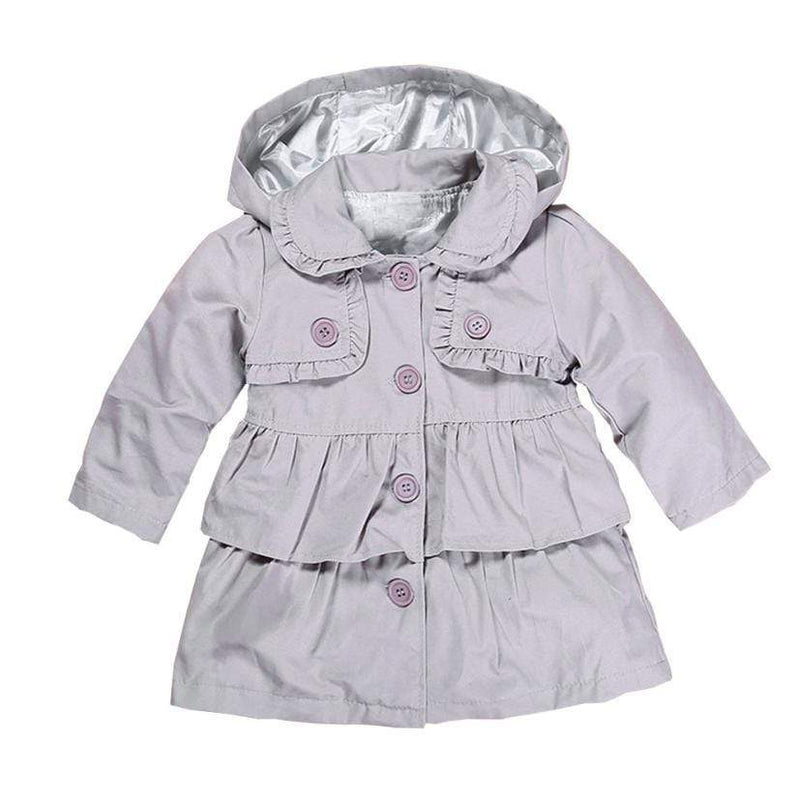 Lightweight Little Girls Hooded Tiered Jacket - The Palm Beach Baby