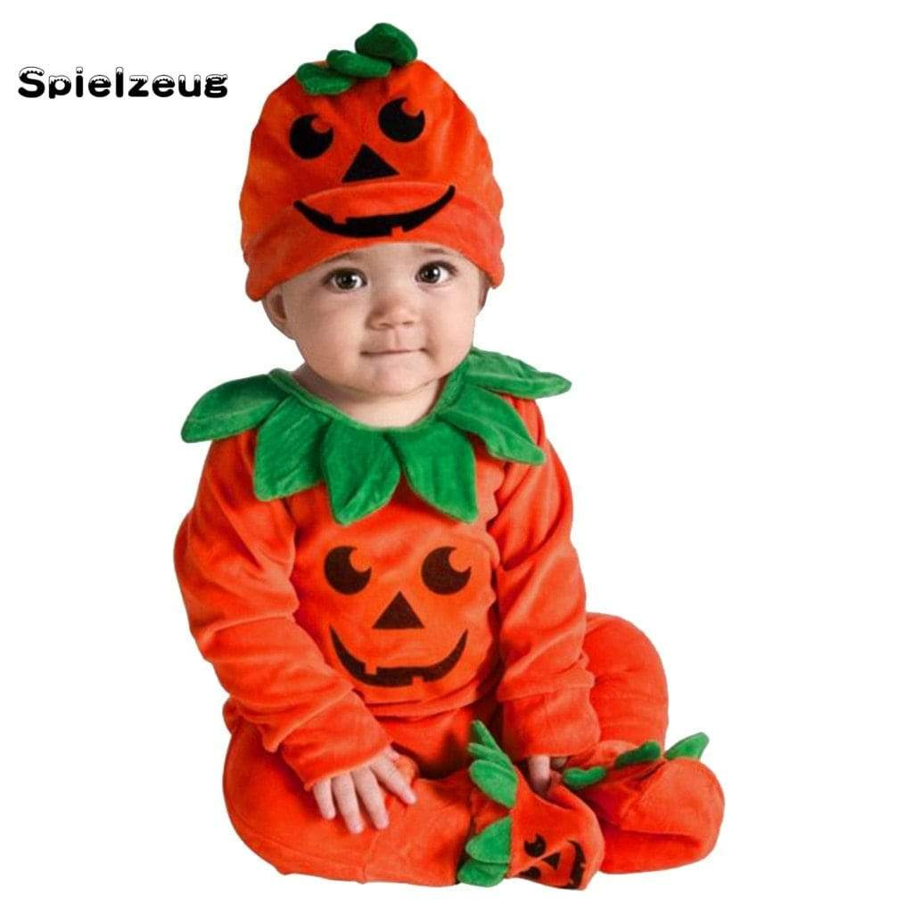 Little Pumpkin Romper + Matching Cap Set - The Palm Beach Baby