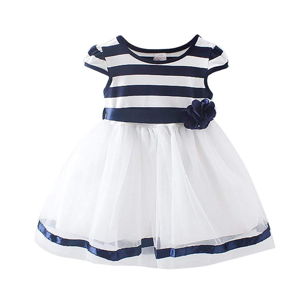 """Loraine"" Striped Tulle Party Dress - The Palm Beach Baby"