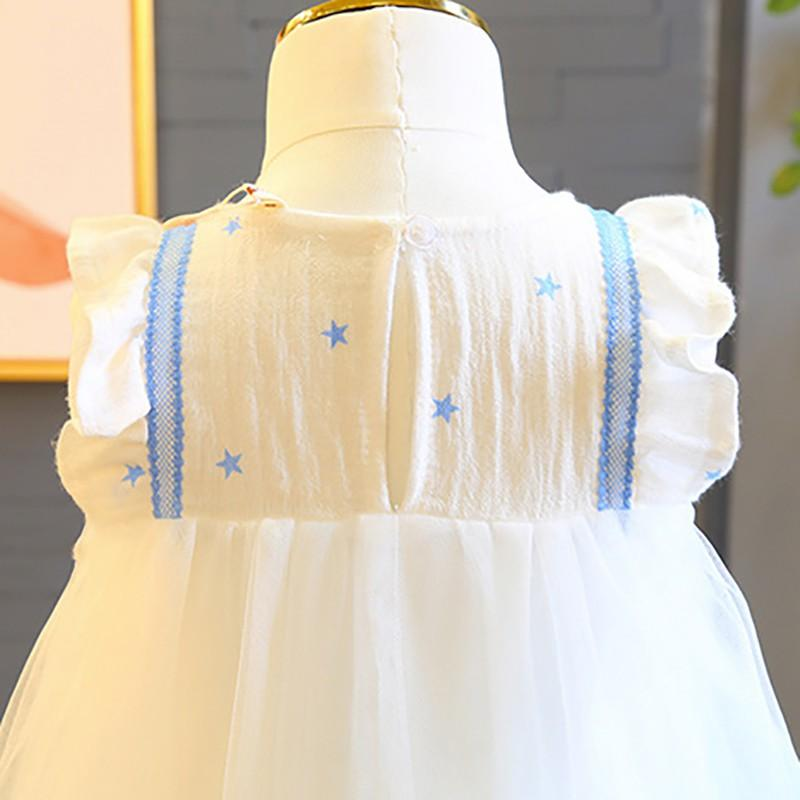 Baby & Kids Apparel Lovely White and Ice-Blue Ambre Party Dress -The Palm Beach Baby