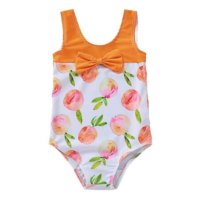 "Baby & Kids Apparel ""My Little Peach"" Swimsuit -The Palm Beach Baby"