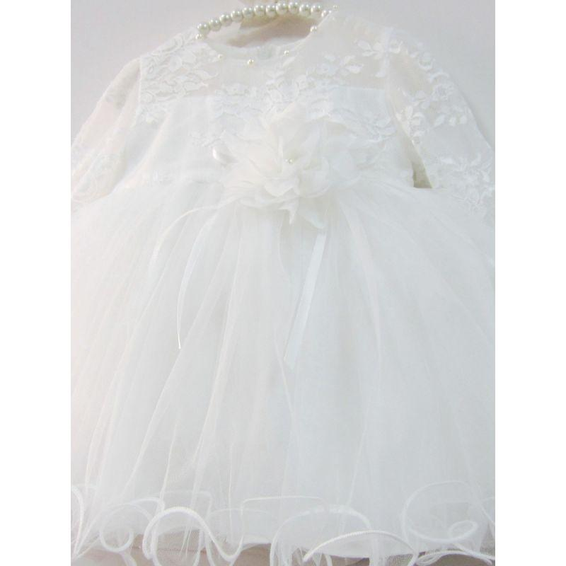 "Lovely ""Octavia"" Beaded Floral Lace Tulle Dress - The Palm Beach Baby"