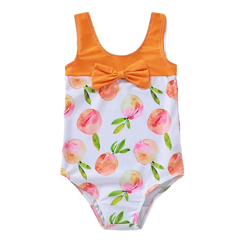 "Baby & Kids Apparel Orange / United States / 18M ""My Little Peach"" Swimsuit -The Palm Beach Baby"