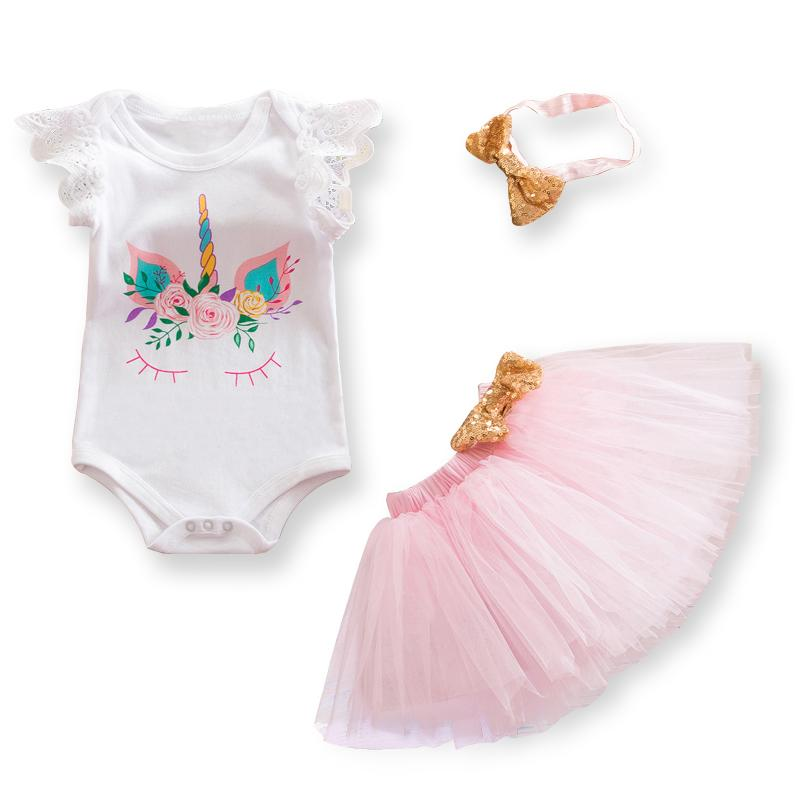 Cute Unicorn Themed 3 PC Tutu Outfit - The Palm Beach Baby