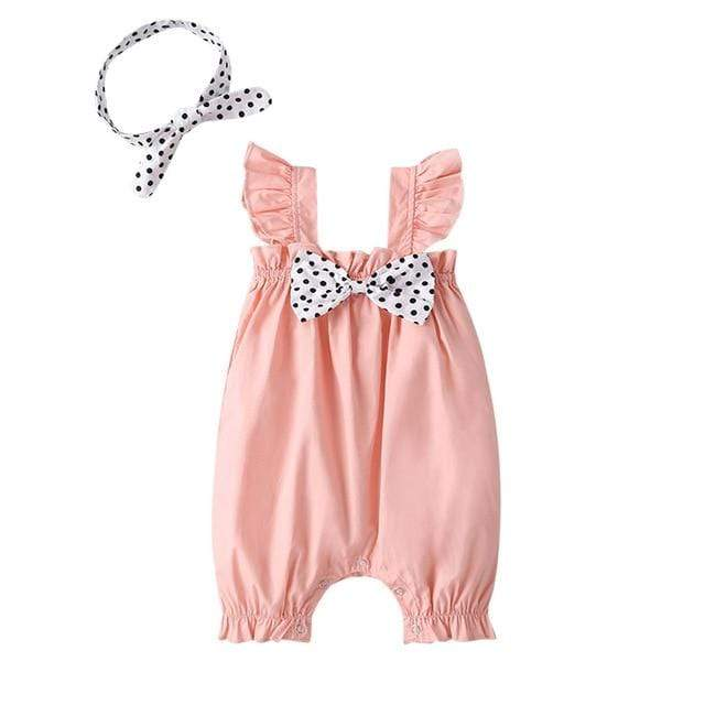 "The ""Bethany"" Bow Romper With Head Bow - The Palm Beach Baby"