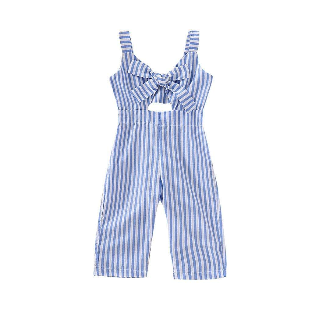 """Precious In Stripes"" Girls One-Piece Jumpsuit - The Palm Beach Baby"