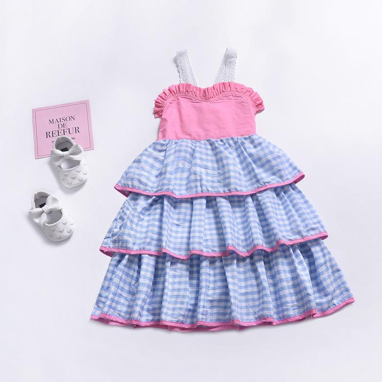 """Pretty in Checks"" Tiered Party Dress - The Palm Beach Baby"