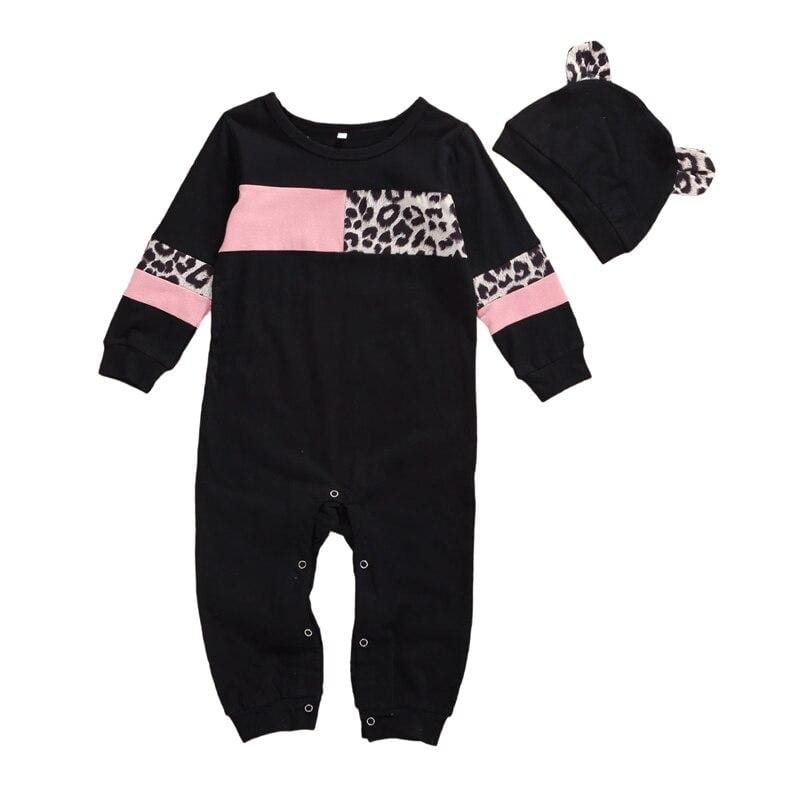 """Pretty in Leopard"" 2 PC Romper Set - The Palm Beach Baby"