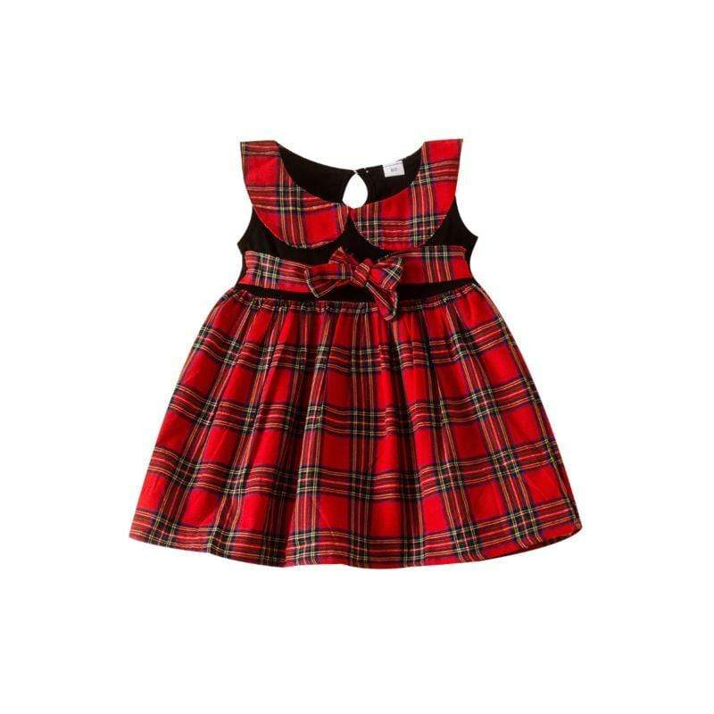 """Pretty in Plaid"" Sleeveless Dress - The Palm Beach Baby"