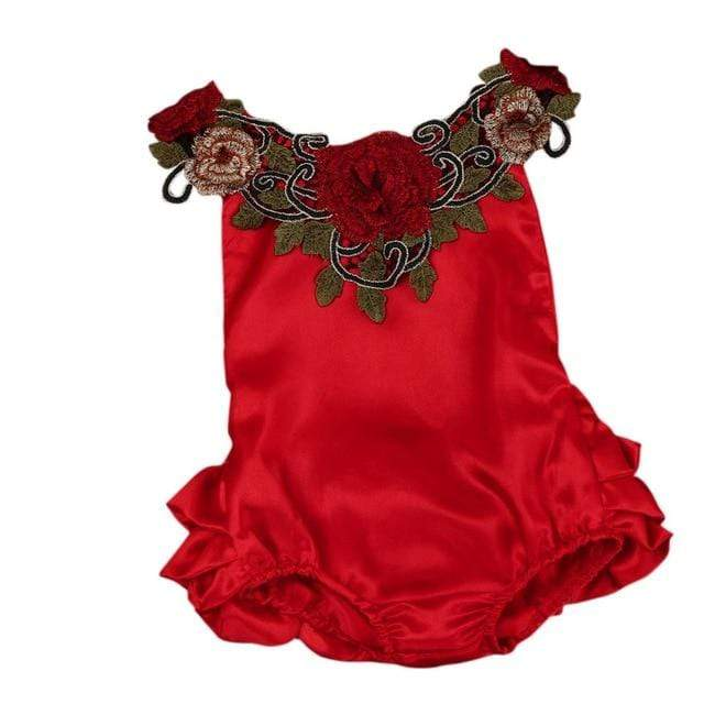 """Everything's Coming Up Roses"" Romper - The Palm Beach Baby"