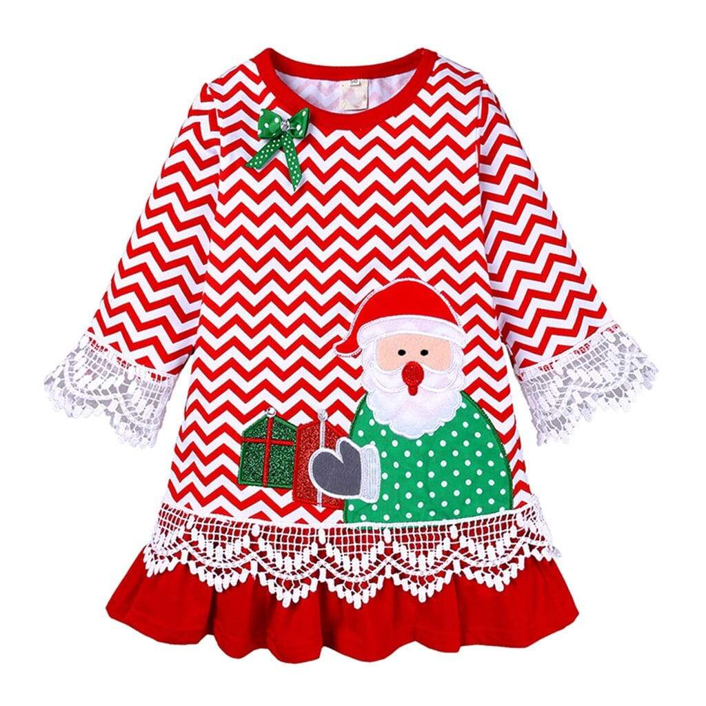 Santa-Themed Little Girls Dress - The Palm Beach Baby