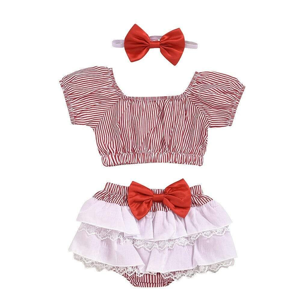 "Baby & Kids Apparel Red / 6M / China The ""Mary-Jane"" Checked 2 Piece Skirt Set -The Palm Beach Baby"